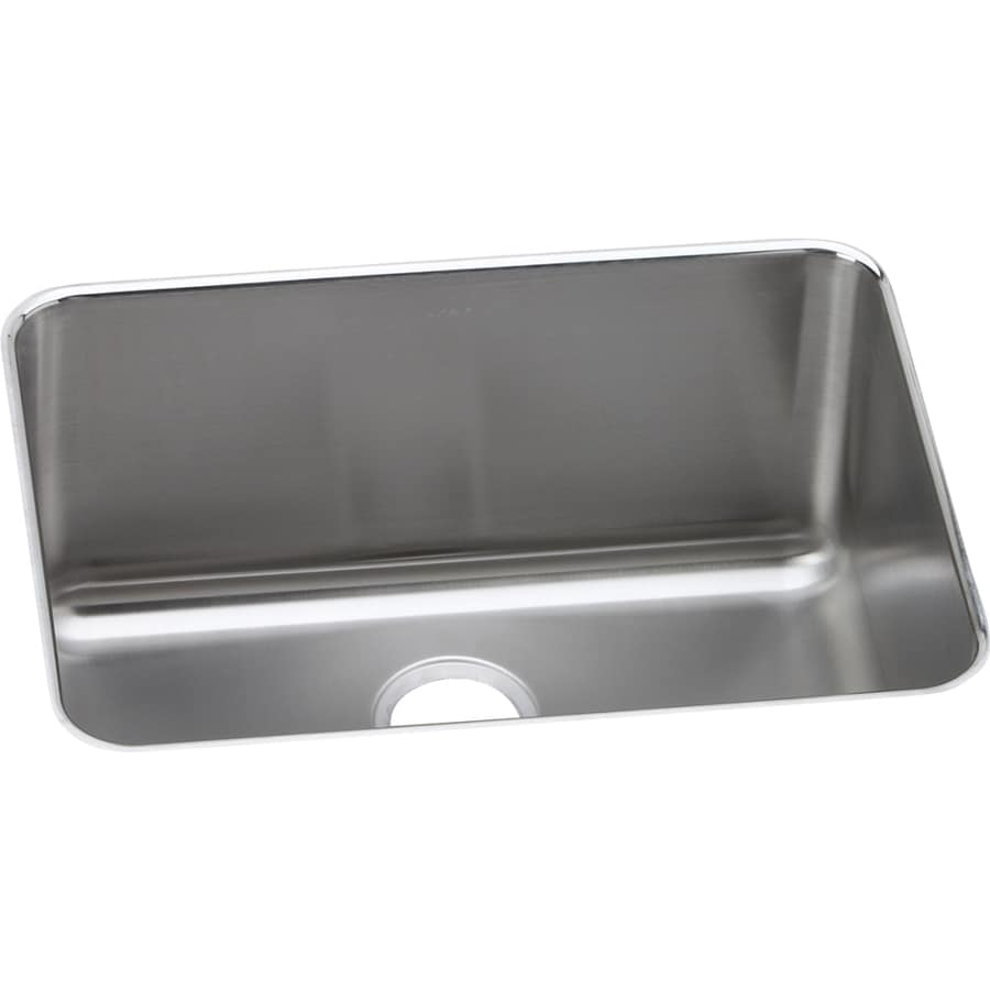 Elkay Gourmet 18.25-in x 24.5-in Lustrous Satin Single-Basin-Basin Stainless Steel Undermount (Customizable)-Hole Residential Kitchen Sink