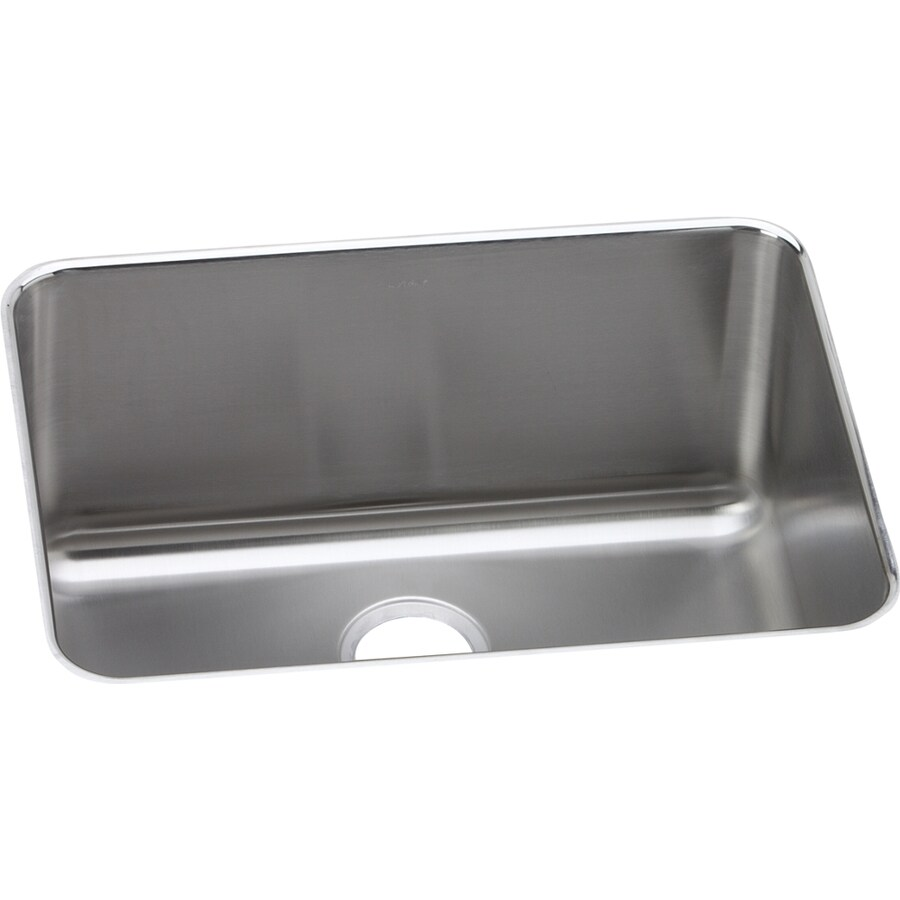 Elkay Gourmet 18.25-in x 24.5-in Lustrous Satin Single-Basin Stainless Steel Undermount Residential Kitchen Sink