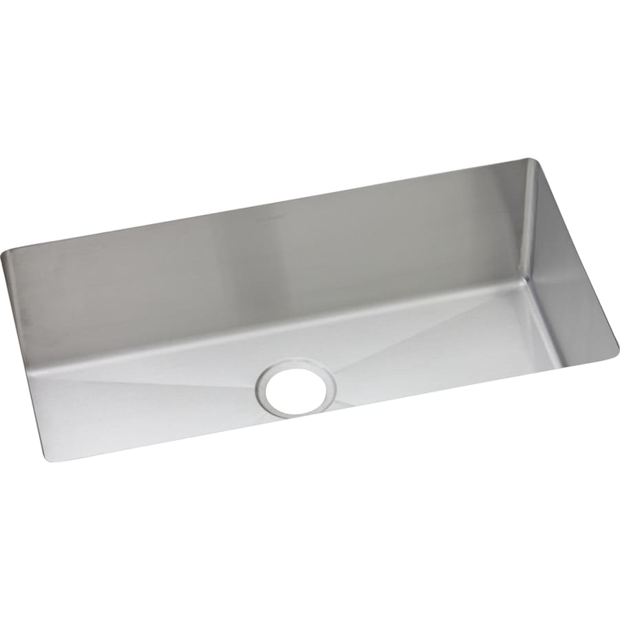 Elkay Avado 18-in x 32.5-in Polished Satin Single-Basin-Basin Stainless Steel Undermount (Customizable)-Hole Residential Kitchen Sink