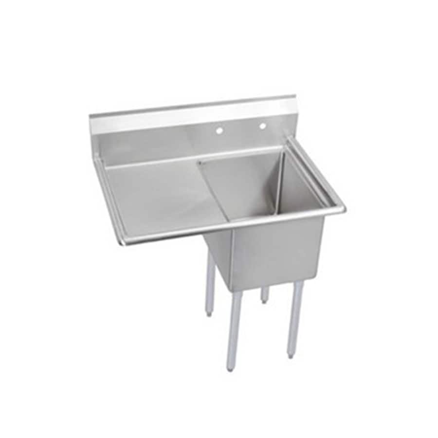 Elkay 29.8-in x 50.5-in Buffed Satin Freestanding Stainless Steel Utility Tub with Drain