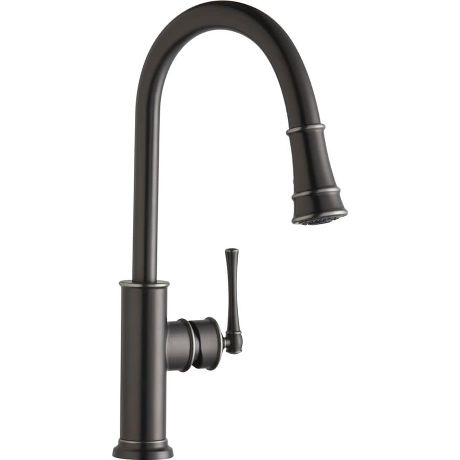 Elkay Explore Antique Steel 1 Handle Deck Mount Pull Down Kitchen Faucet