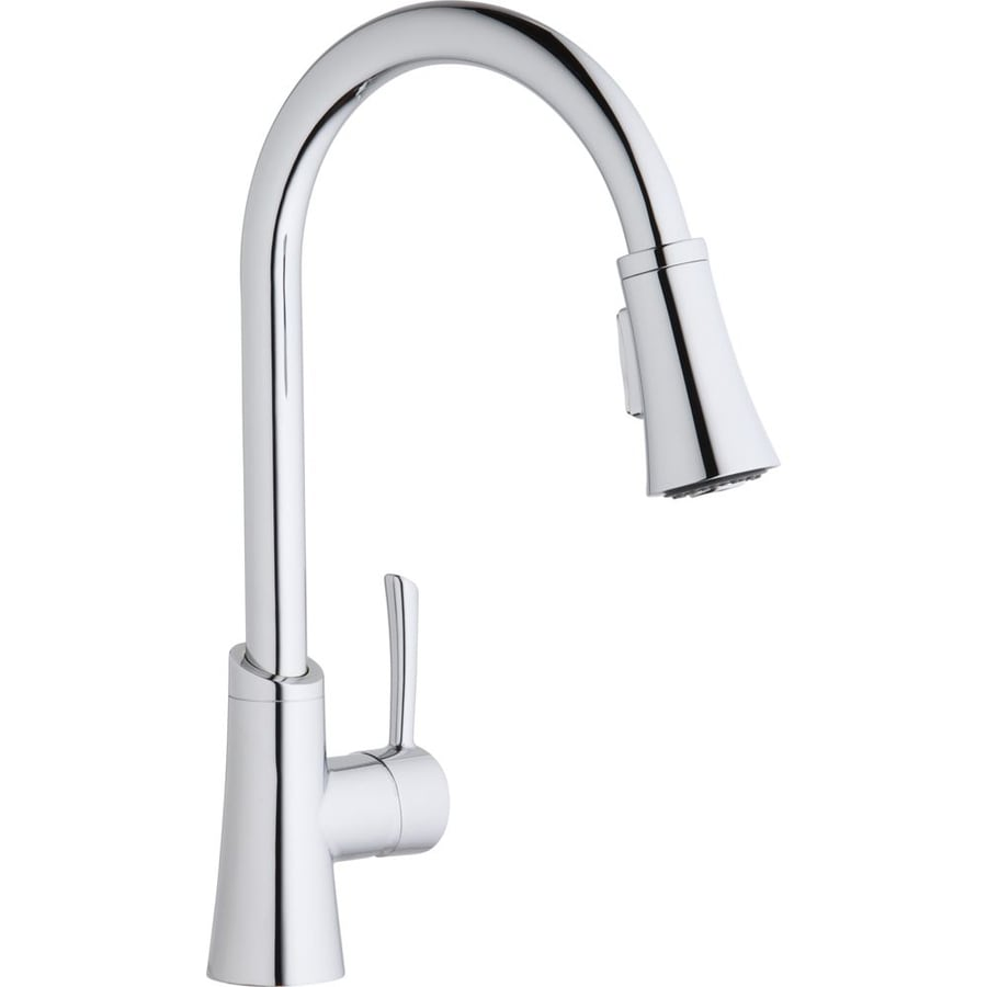 Chrome Pull Down Kitchen Faucet Redglassess