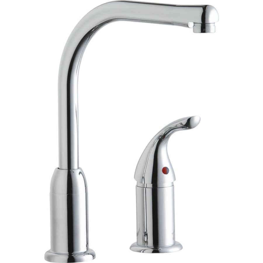shop elkay everyday chrome 1 handle high arc kitchen shop elkay harmony brushed nickel 1 handle pull down