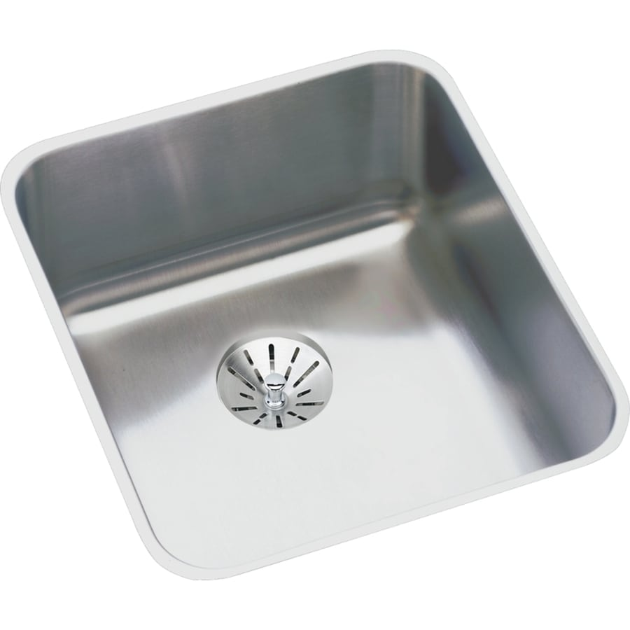 Elkay Gourmet 18.5-in x 16-in Stainless Steel Single-Basin Undermount Residential Kitchen Sink