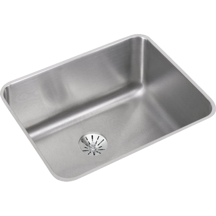 Elkay Gourmet 18.25-in x 23.5-in Single-Basin Stainless Steel Undermount Residential Kitchen Sink