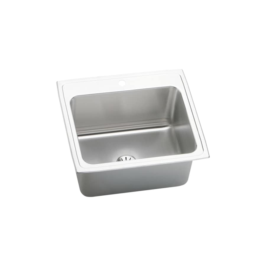 ... Single-Basin Stainless Steel Drop-in 1-Hole Residential Kitchen Sink
