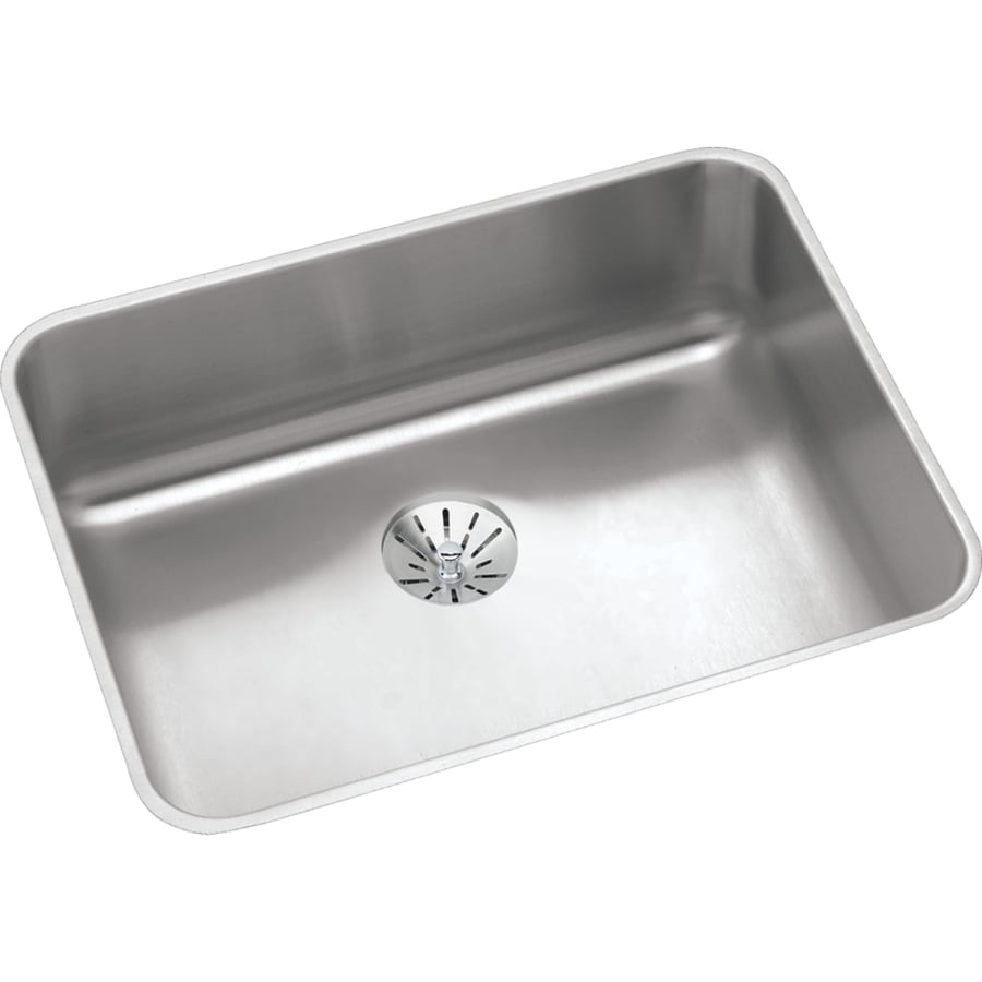 Elkay Gourmet 18.25-in x 23.5-in Stainless Steel 1 Stainless Steel Undermount (Customizable)-Hole Residential Kitchen Sink