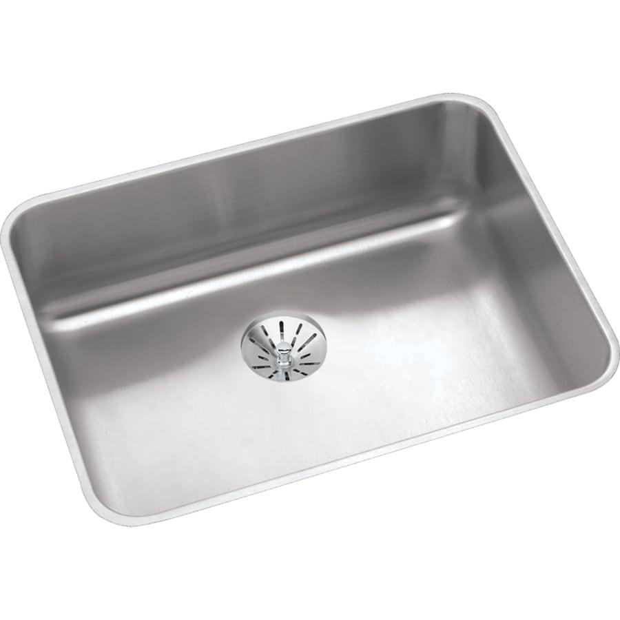 Elkay Gourmet 18.25-in x 23.5-in Stainless Steel Single-Basin-Basin Stainless Steel Undermount (Customizable)-Hole Residential Kitchen Sink