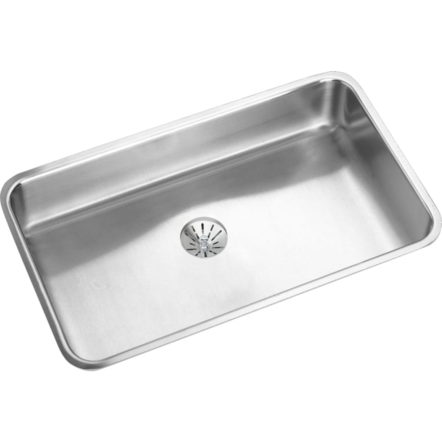 Elkay Gourmet 18.5-in x 30.5-in Stainless Steel 1 Stainless Steel Undermount (Customizable)-Hole Residential Kitchen Sink