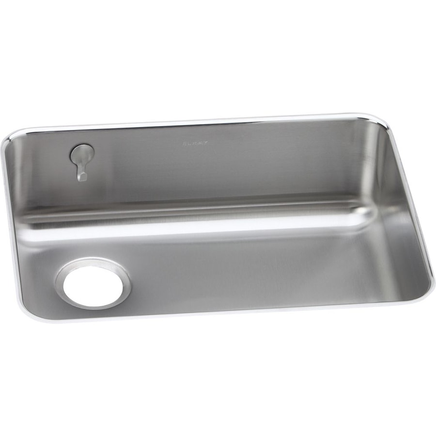 Elkay Gourmet 18.75-in x 25-in Lustrous Highlighted Satin Single-Basin Undermount Residential Kitchen Sink