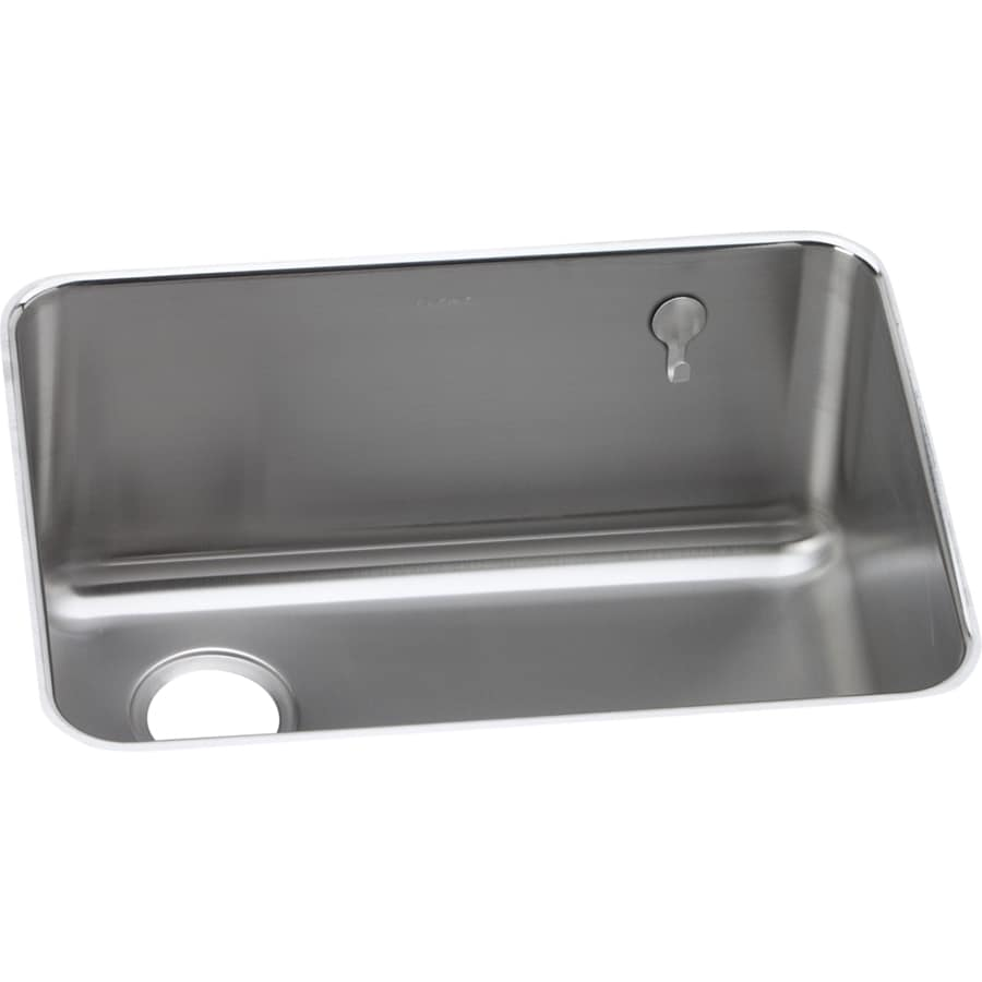 Elkay Gourmet 18.75-in x 25-in Stainless Steel Single-Basin-Basin Stainless Steel Undermount (Customizable)-Hole Residential Kitchen Sink