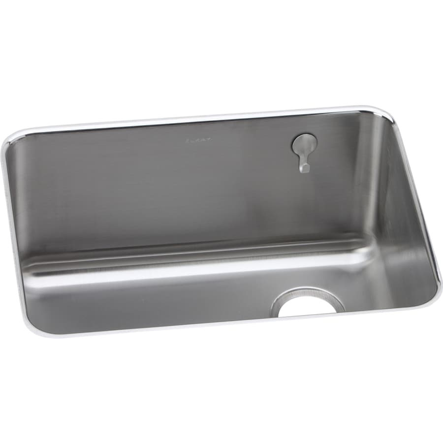 25 inch undermount kitchen sink shop elkay gourmet 18 75 in x 25 in single basin stainless 7307