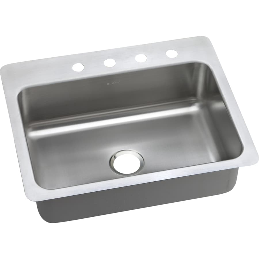 Elkay Dayton 27 In X 22 Elite Satin Single Basin Drop