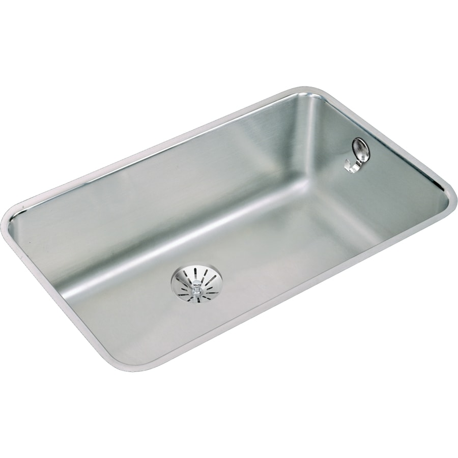 Elkay Gourmet 18.5-in x 30.5-in Stainless Steel Single-Basin Undermount Residential Kitchen Sink