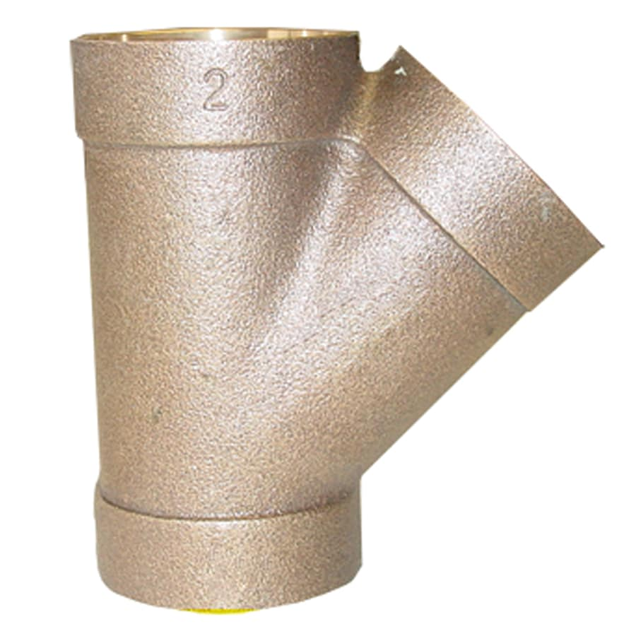 1-1/2-in x 1-1/2-in x 1-1/2-in Dia. 45-Degree Copper Wye Fitting