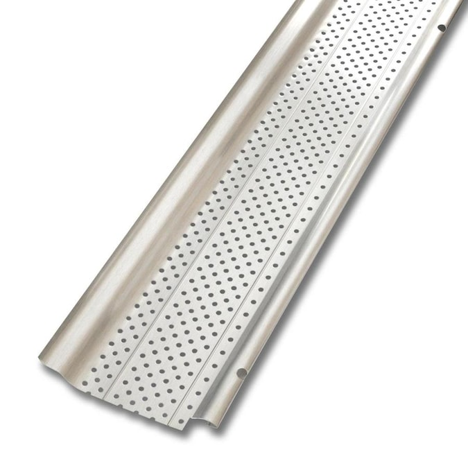 Smart Screen Aluminum Gutter Guard 5 In X 20 Ft In The Gutter Guards Department At Lowes Com
