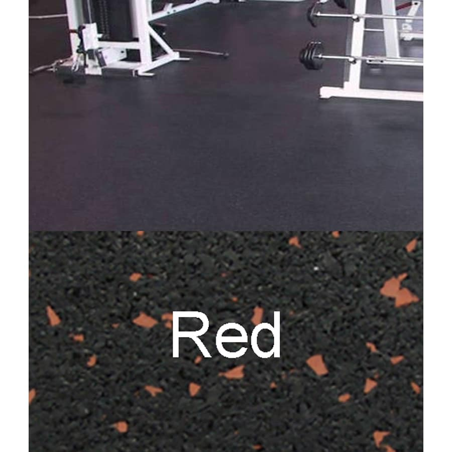 Amorim Rubber 4' x 10' Mat Flooring (Color: Black With Red Flecks)