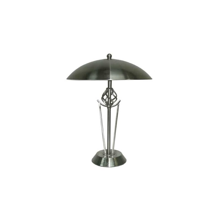 Portfolio 16 In Brushed Nickel Touch On Off Indoor Table Lamp With Metal Shade