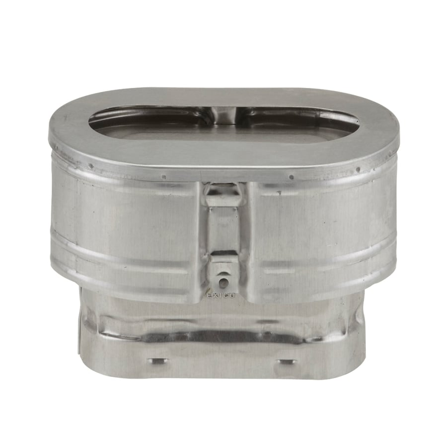 American Metal Products Oval Gas Vent 4-in dia Galvanized Steel Rain Cap