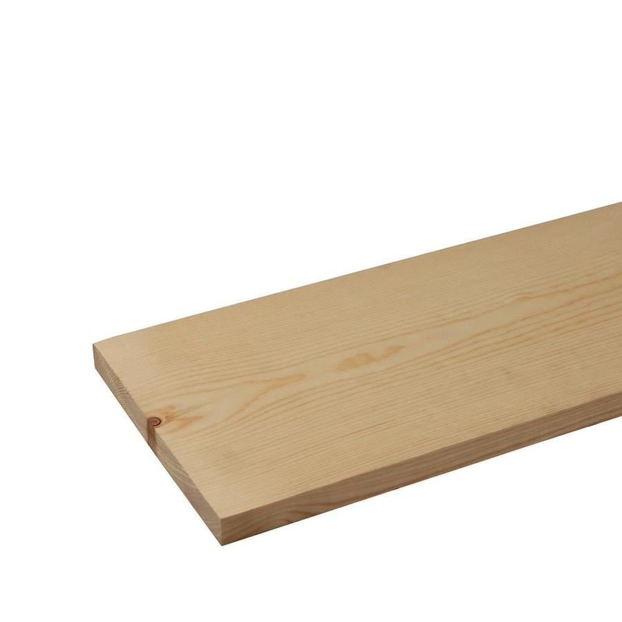 (Common: 1-in x 8-in x 8-ft; Actual: 0.75-in x 7.25-in x 8-ft) Whitewood Board
