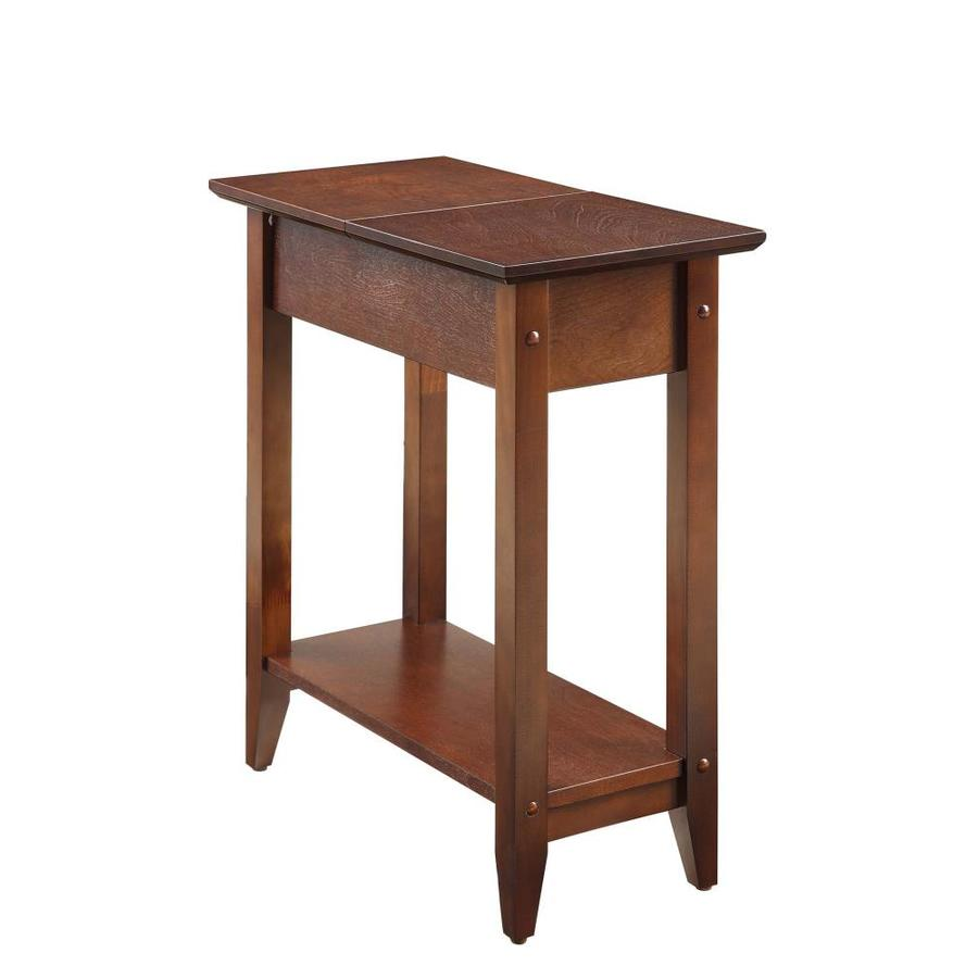 Convenience Concepts American Heritage Espresso Wood Veneer End Table In The End Tables Department At Lowes Com
