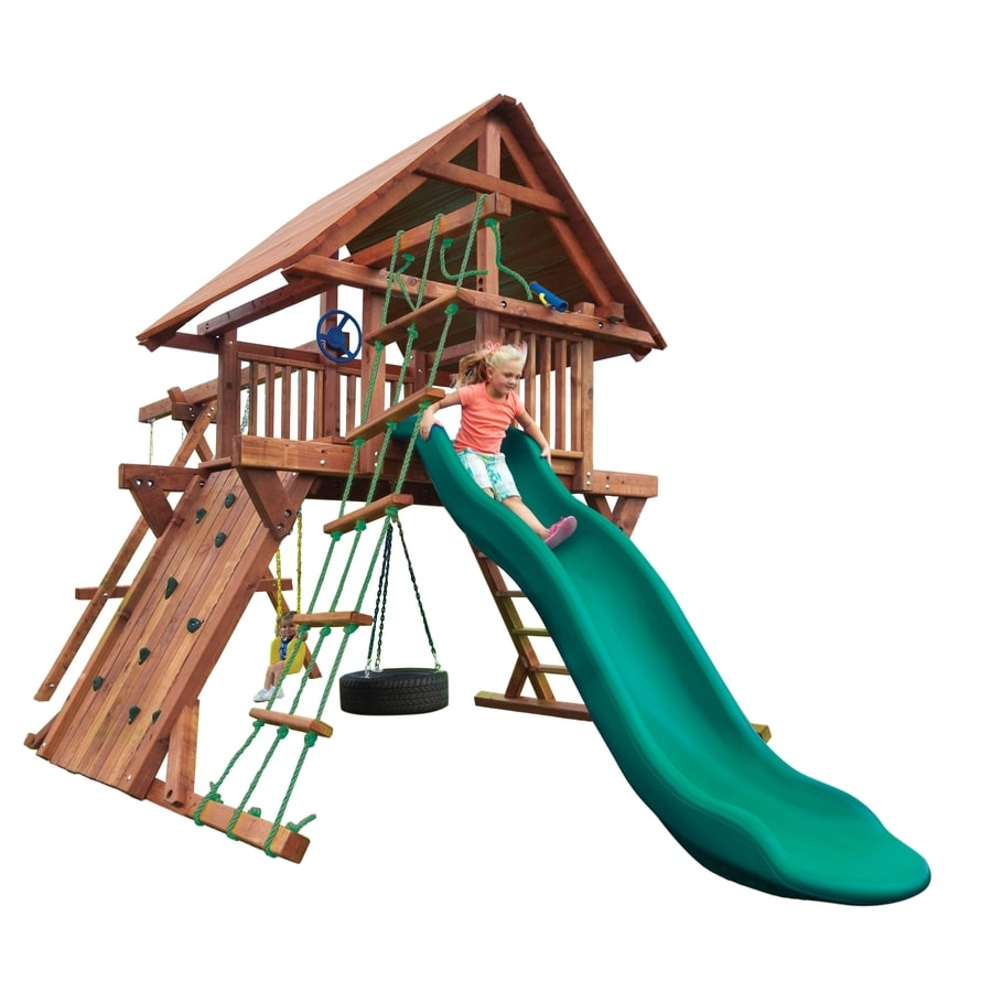Heartland 5 Star Admiral Wood Playset with Swings