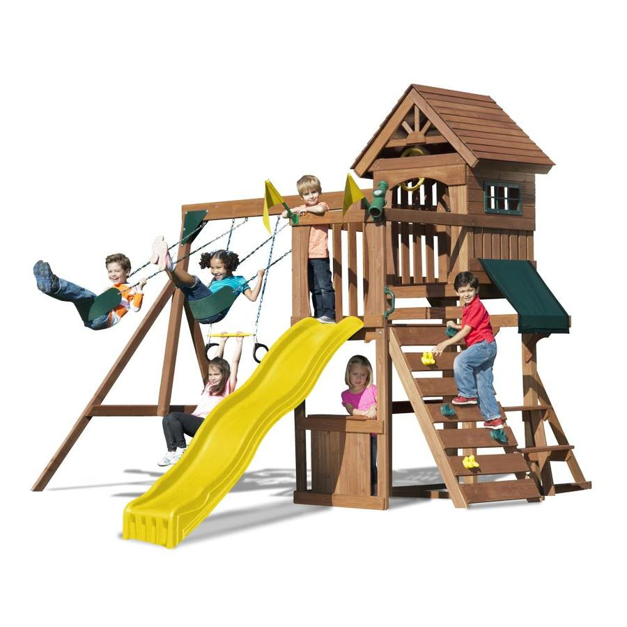 Heartland Fort Sentry Residential Wood Playset with Swings