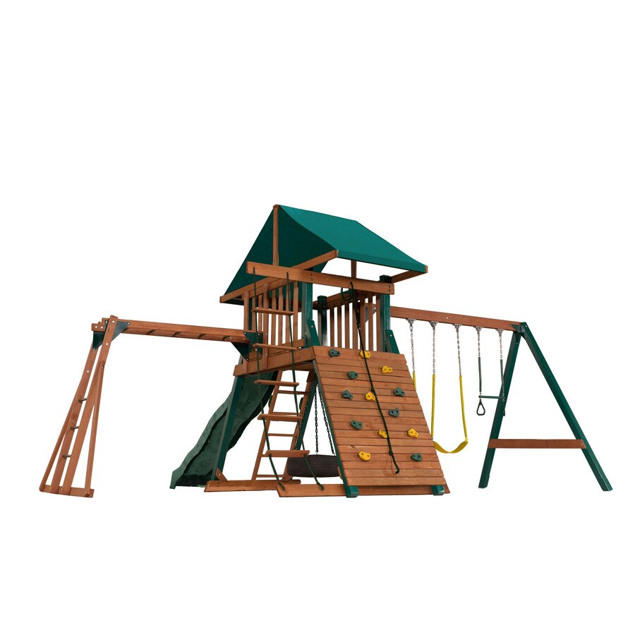 Heartland Playsets Captain's Loft B Residential Wood Playset with Swings