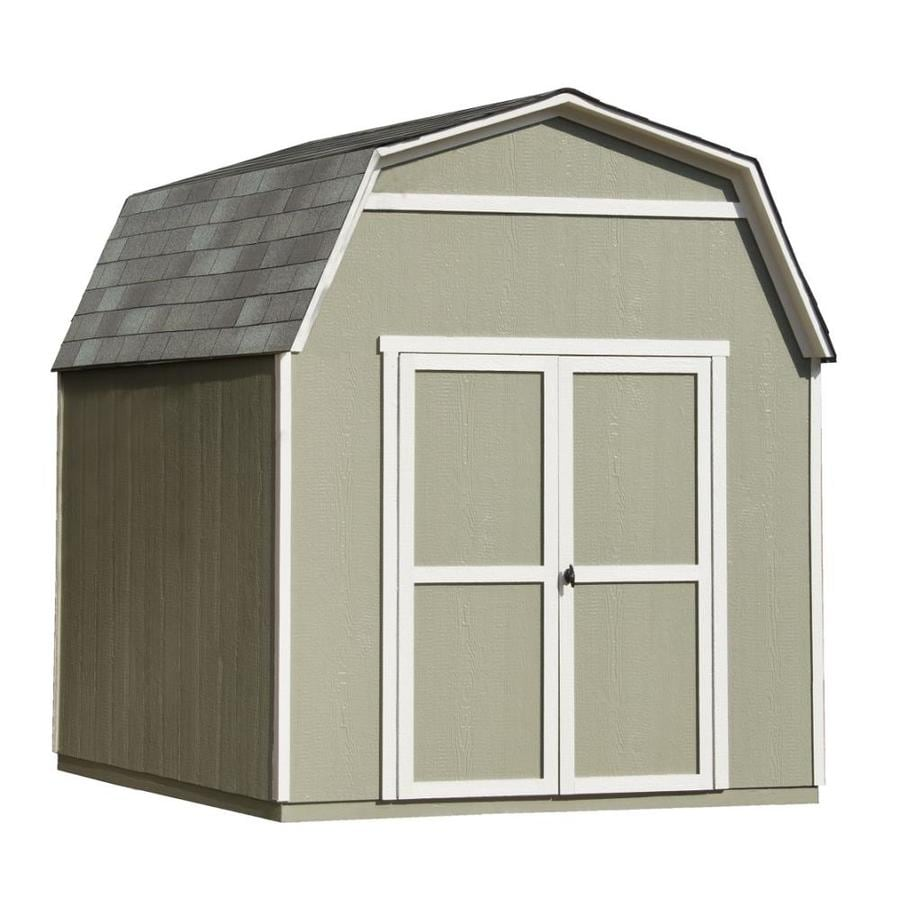 Heartland (Common: 8-ft x 10-ft; Interior Dimensions: 8-ft x 10-ft) Ridgeview Gambrel Engineered Storage Shed (Installation Not Included)