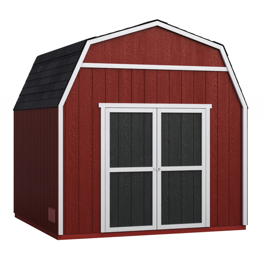 Heartland (Common: 10-ft x 10-ft; Interior Dimensions: 10-ft x 9.71 Feet) Rainier Gambrel Engineered Wood Storage Shed