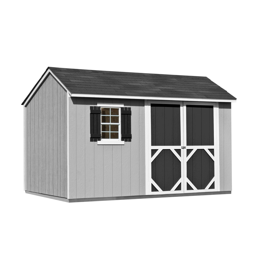 Heartland (Common: 12-ft x 8-ft; Interior Dimensions: 11.71-ft x 8 Feet) Stratford Saltbox Engineered Wood Wood Storage Shed