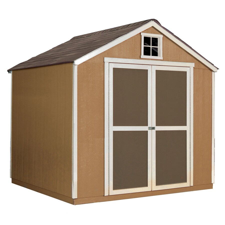 Heartland Belmont Gable Engineered Wood Storage Shed (Common: 8-ft x 8-ft; Interior Dimensions: 7.58-ft x 7.36-ft)