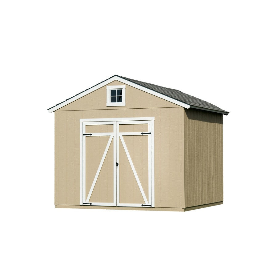 Heartland (Common: 10-ft x 8-ft; Interior Dimensions: 10-ft x 8-ft) Statesman Gable Engineered Storage Shed (Installation Not Included)