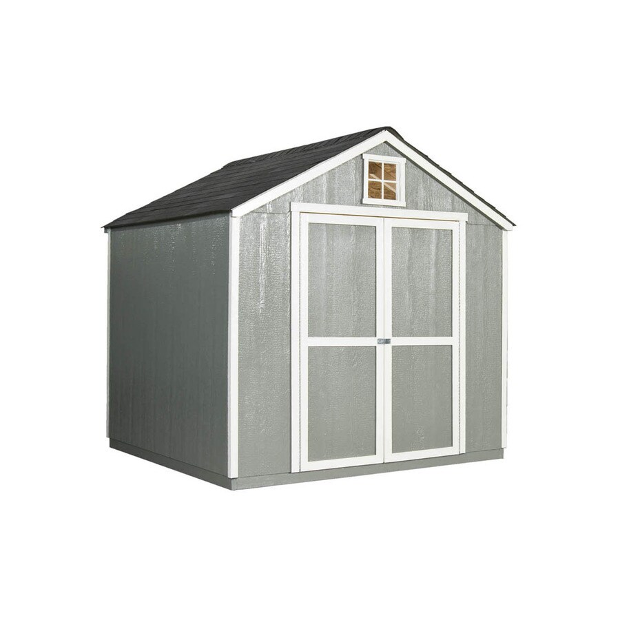 Heartland (Common: 8-ft x 8-ft; Interior Dimensions: 8-ft x 7.72-ft) Hamlin Gable Engineered Storage Shed (Installation Not Included)
