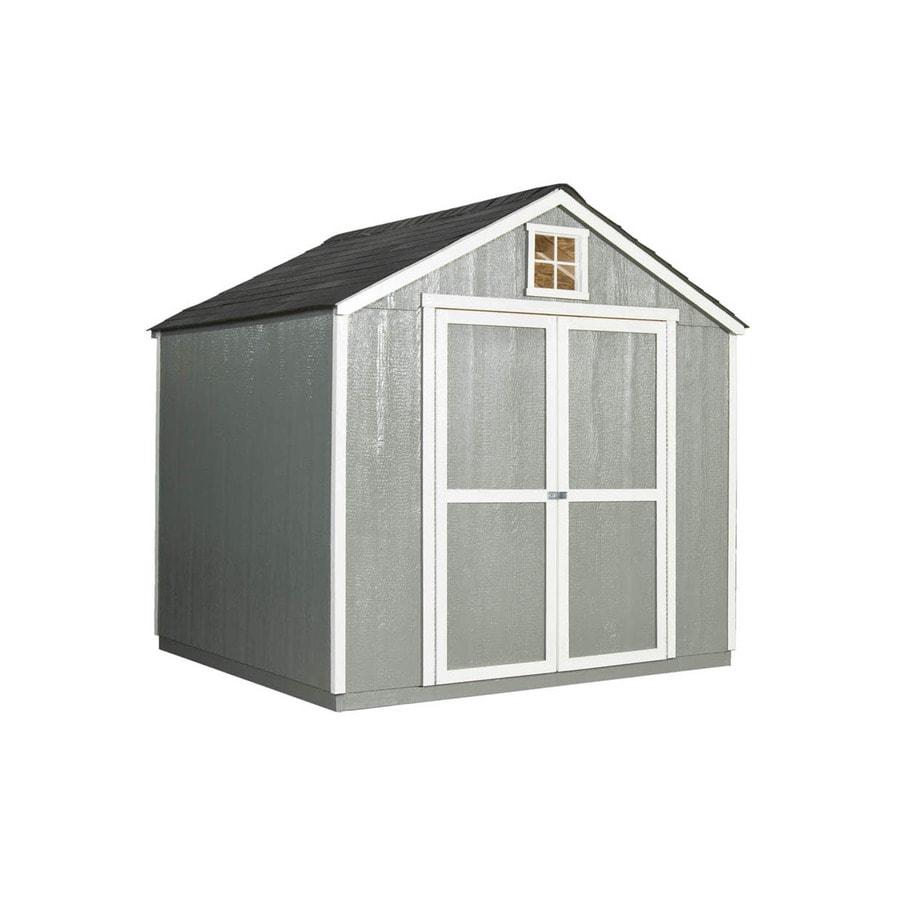 Heartland (Common: 8-ft x 8-ft; Interior Dimensions: 8-ft x 7.72 Feet) Hamlin Gable Engineered Wood Wood Storage Shed