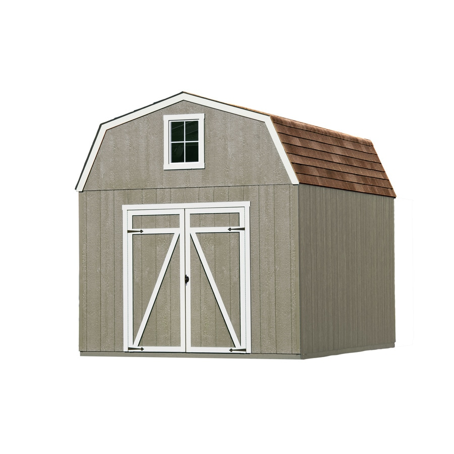 Heartland (Common: 10-ft x 12-ft; Interior Dimensions: 10-ft x 12 Feet) Estate Gambrel Engineered Wood Wood Storage Shed