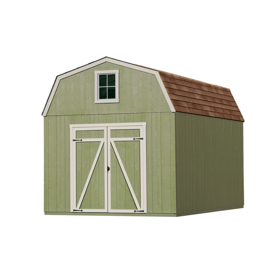Heartland (Common: 10-ft x 16-ft; Interior Dimensions: 10-ft x 16-ft) Estate Gambrel Engineered Wood Storage Shed
