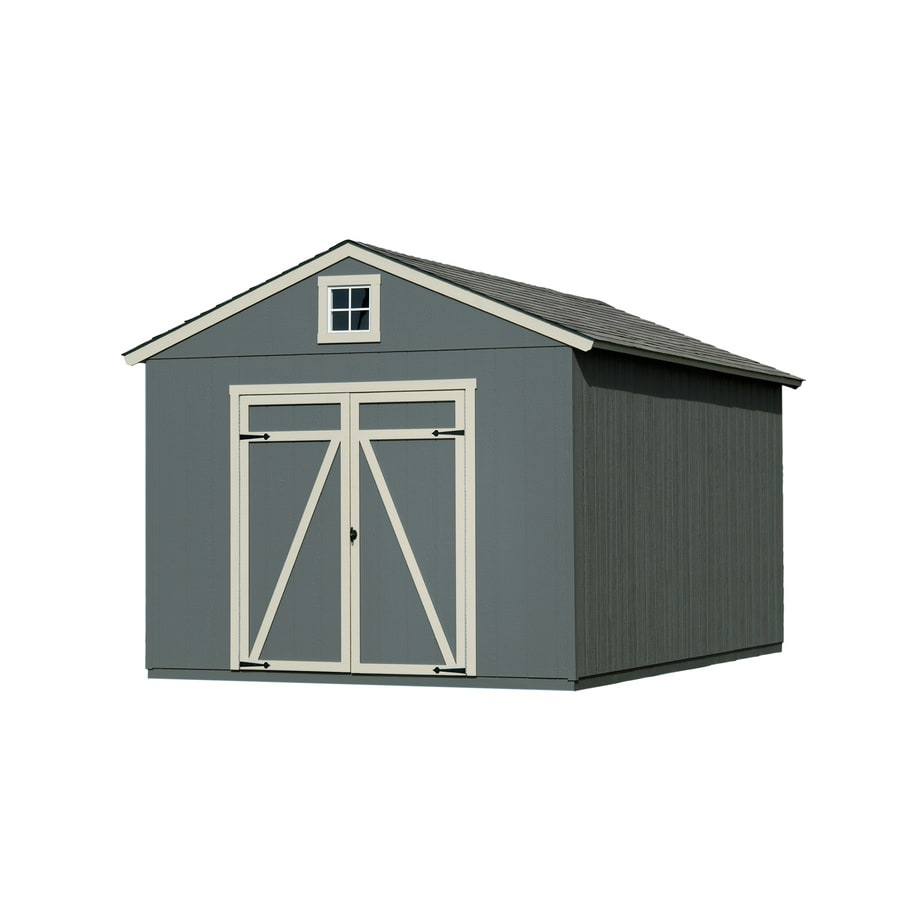 Heartland (Common: 10-ft x 16-ft; Interior Dimensions: 10-ft x 16 Feet) Statesman Gable Engineered Wood Wood Storage Shed