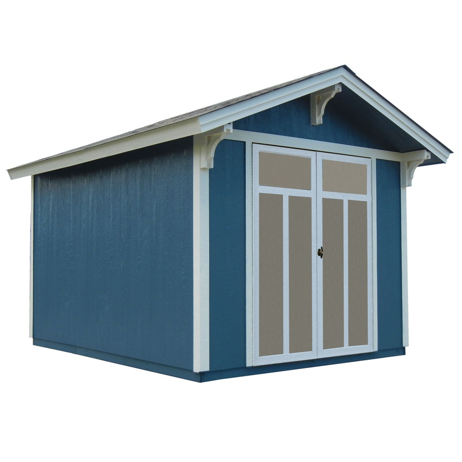 Heartland (Common: 8-ft x 10-ft; Interior Dimensions: 8-ft x 10 Feet) Prestwick Gable Engineered Wood Wood Storage Shed