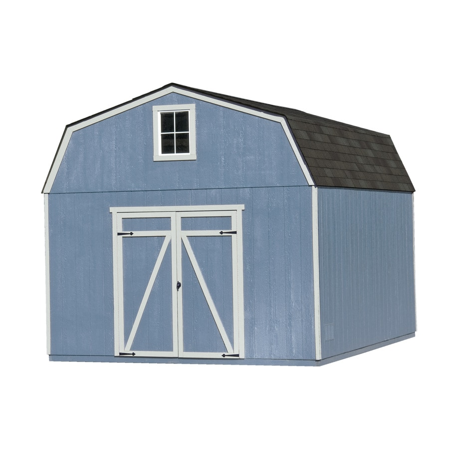 Heartland Estate Gambrel Engineered Wood Storage Shed (Common: 12-ft x 12-ft; Interior Dimensions: 11.42-ft x 11.42-ft)