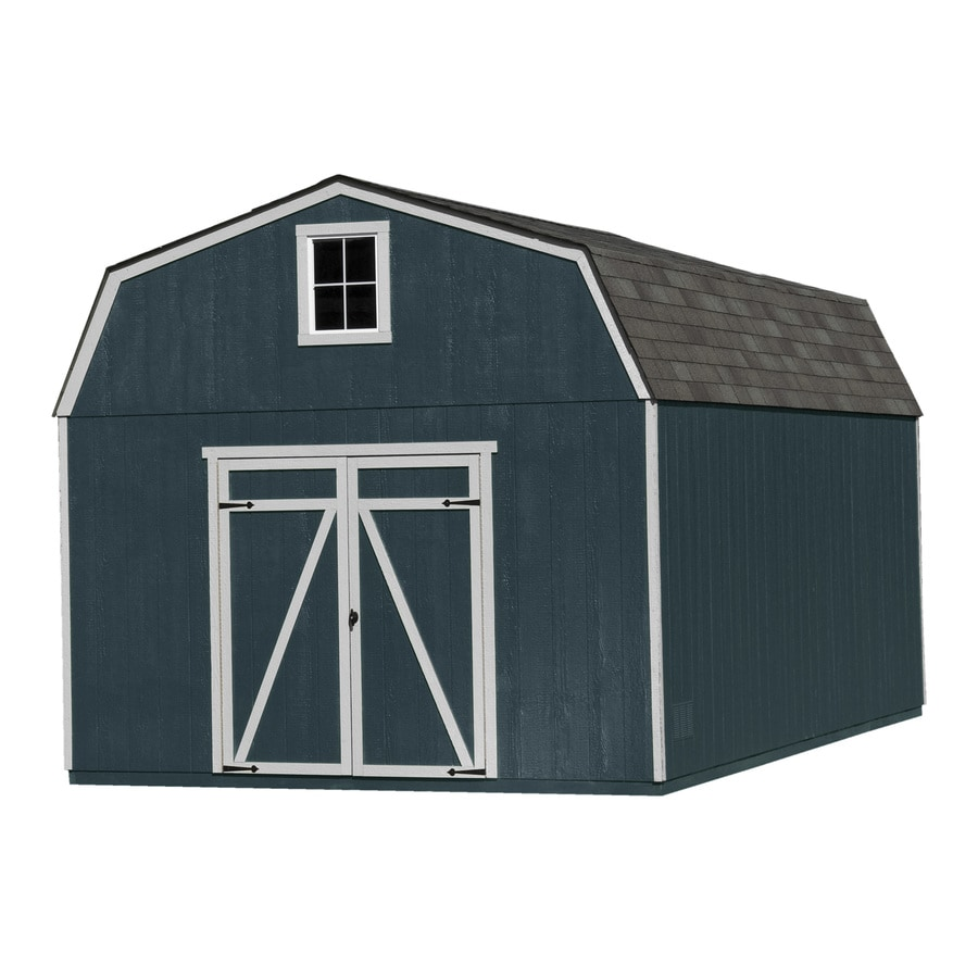 Heartland (Common: 12-ft x 16-ft; Interior Dimensions: 11.42-ft x 15.42-ft) Estate Gambrel Engineered Storage Shed (Installation Not Included)
