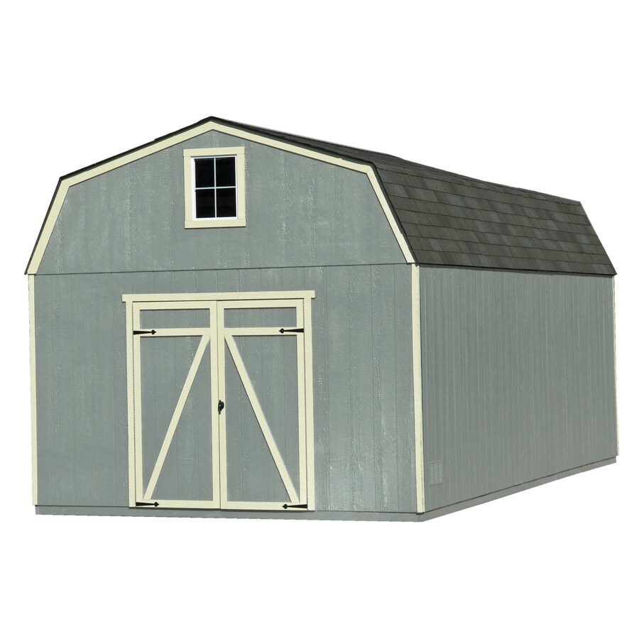Heartland (Common: 12-ft x 20-ft; Interior Dimensions: 11.42-ft x 19.42 Feet) Estate Gambrel Engineered Wood Wood Storage Shed
