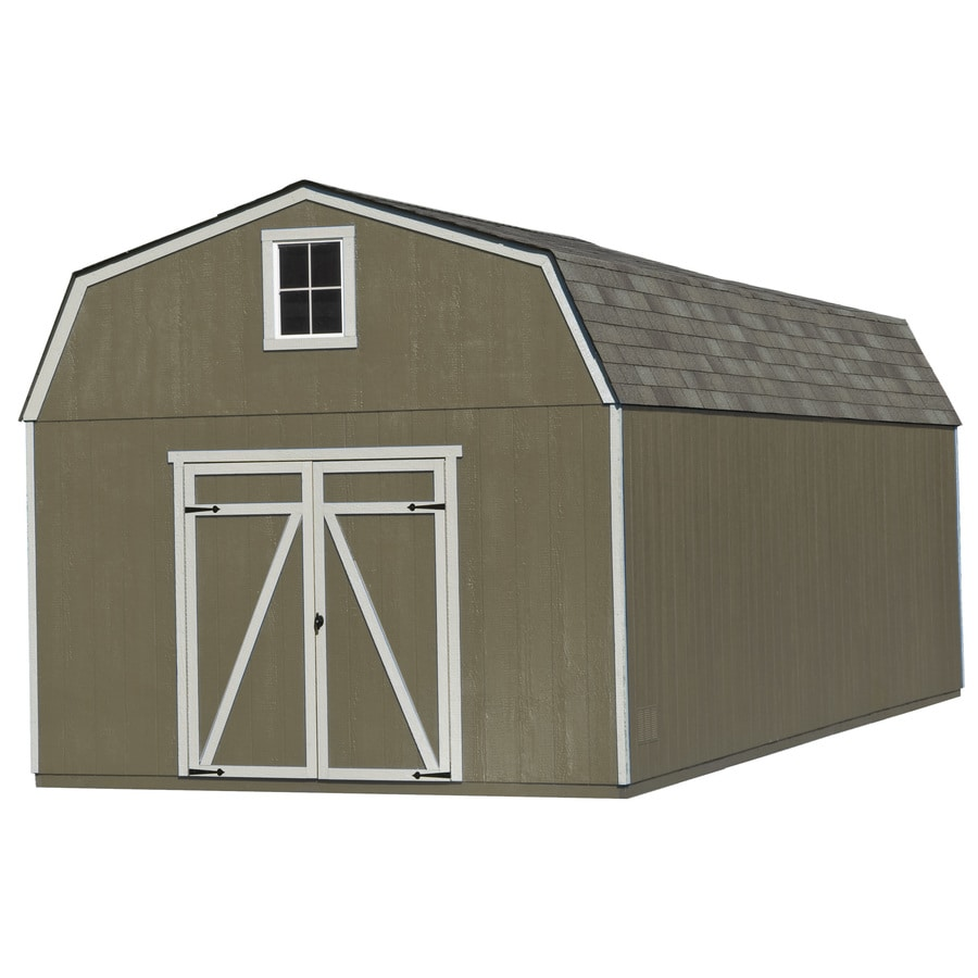 Heartland (Common: 12-ft x 24-ft; Interior Dimensions: 11.42-ft x 23.42 Feet) Estate Gambrel Engineered Wood Wood Storage Shed