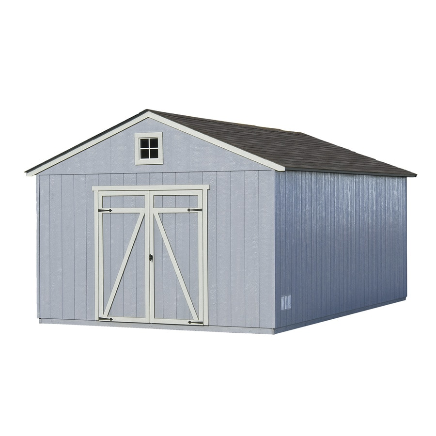 Heartland (Common: 12-ft x 20-ft; Interior Dimensions: 11.42-ft x 19.42 Feet) Statesman Gable Engineered Wood Wood Storage Shed