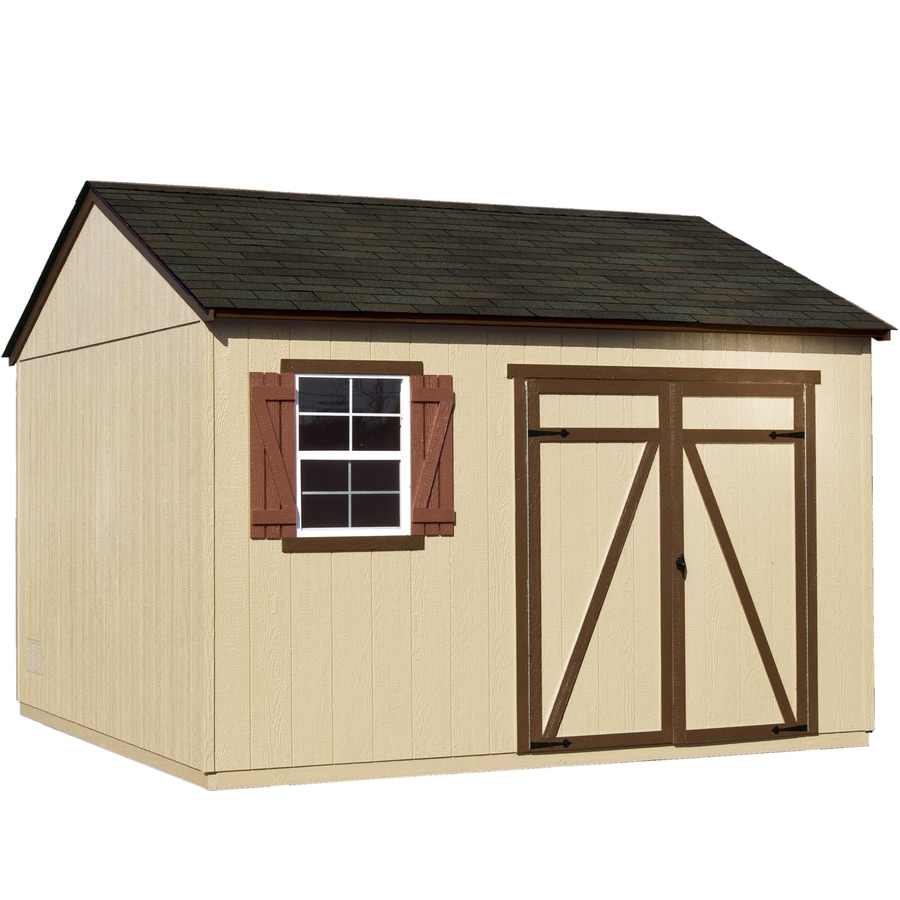 Heartland (Common: 12-ft x 12-ft; Interior Dimensions: 11.42-ft x 11.42-ft) Gentry Gable Engineered Storage Shed (Installation Not Included)