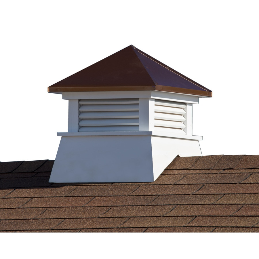 Shop heartland tan copper pvc base wood roof tin top for Shed cupola