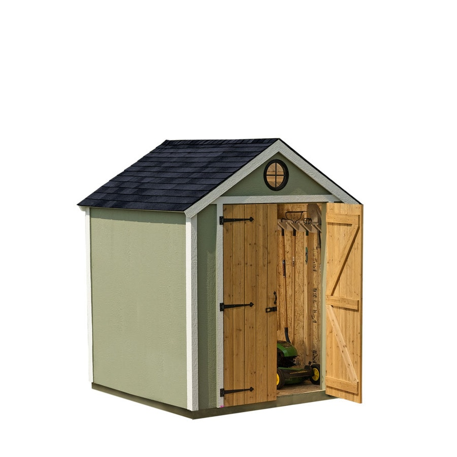 heartland diy garden shed 6 x 6 wood storage building with floor