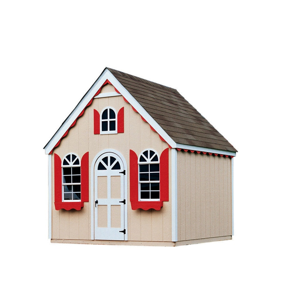Heartland Cobblestone Cottage Gable Engineered Wood Storage Shed (Common:  8 Ft X 8