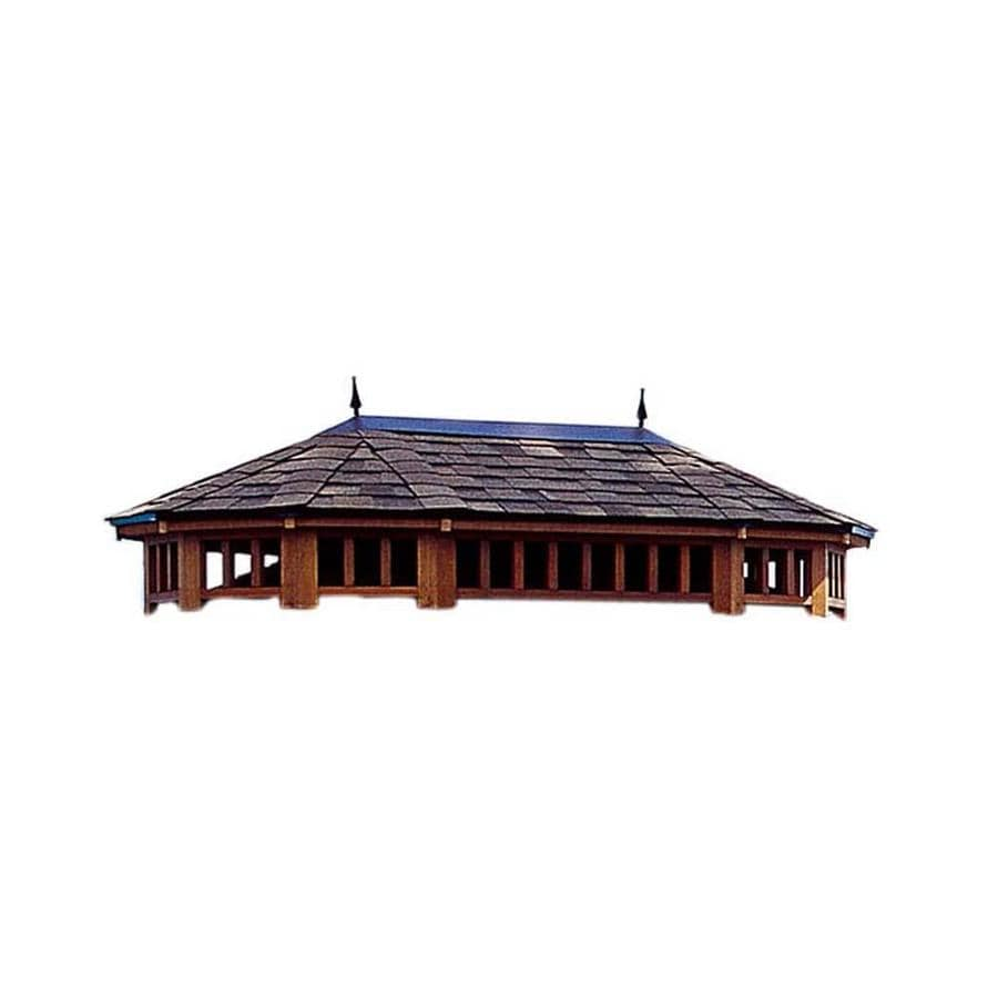 Heartland Brown/Tan Wood Oval Gazebo
