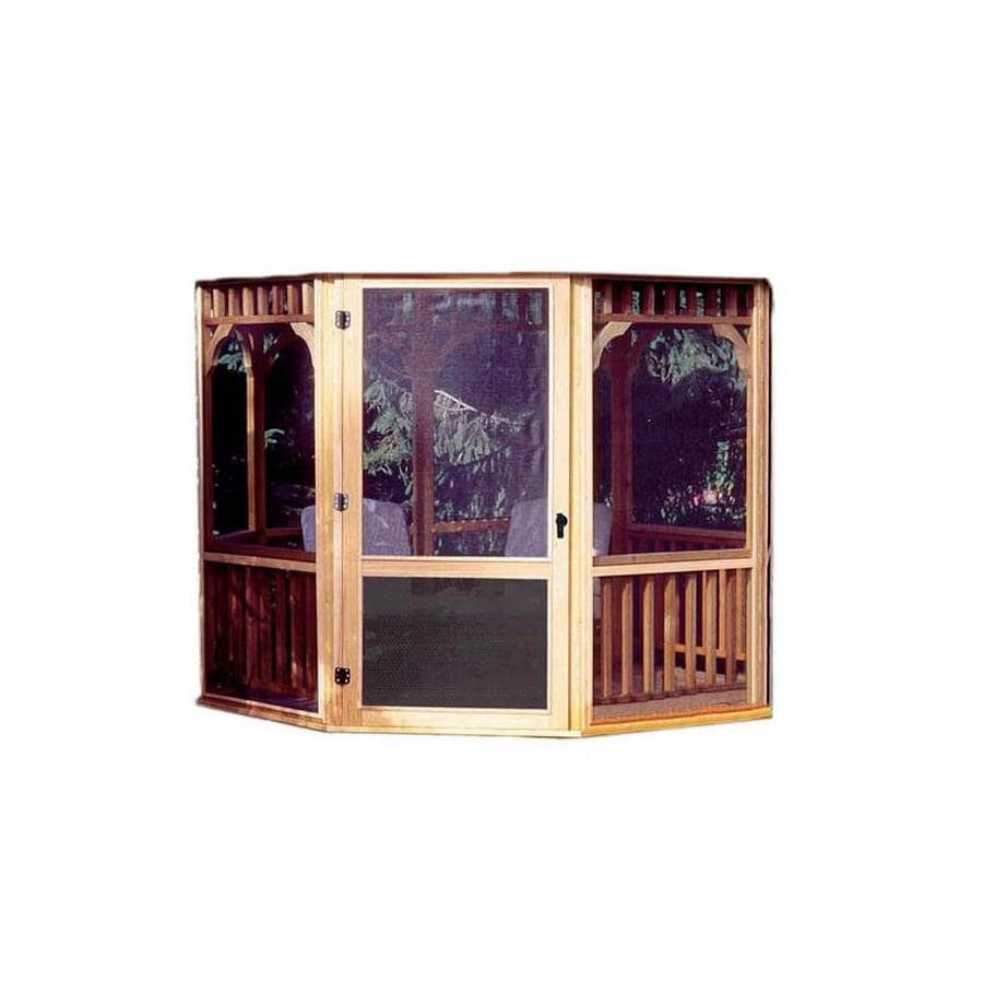 Heartland Brown/Tan Wood Round Screened Gazebo